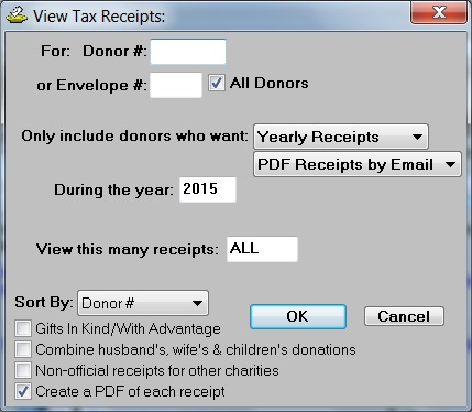 View Donation Receipts